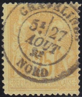 France    .   Y&T    .   92        .    O   .     Oblitéré    .     /   .   Cancelled - 1876-1898 Sage (Tipo II)