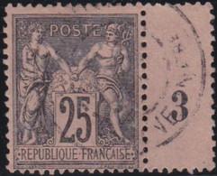 France    .   Y&T    .   97        .    O   .     Oblitéré    .     /   .   Cancelled - 1876-1898 Sage (Type II)