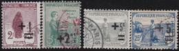France    .   Y&T    .   162/165      .    O    .     Oblitéré    .     /   .   Cancelled - Oblitérés