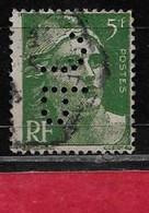 V2  Perfin France Perfore JP 78  Sur Gandon N° 719 - Perfins