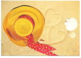 Sur Le Sable: Chapeau, Coeurs Et Coquillages - Ed. AGEP - Photo F. Stock - Format: 12 X 17 Cm - Unclassified