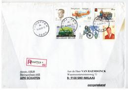 Schaffen 1999 >> St-Niklaas / Recommandé - Storia Postale