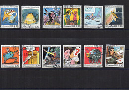 1988  YV  N° 2503/2514  - Oblitéré  Cancelled  Gestempelt  Gestempeld - Used Stamps