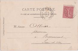 Cc - Cachet Convoyeur PARIS à LA FERTE GAUCHER Sur Cpa 1904 De L'Ile St Maurice - Charentonneau - 1877-1920: Semi Modern Period