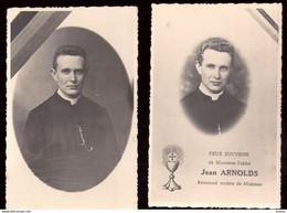 467-MONTZEN-lot De 2 Photos Format Cpa -pieux Souvenir Abbe  Reverend Jean Arnold Mort Pour La Patrie - Plombières