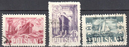 Poland 1948 - Day Of The Sea - Mi 490-92 - Used - Used Stamps
