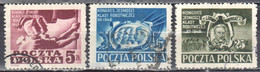 Poland 1948 Working Class Party Congress - Mi 508-10 - Used - Used Stamps