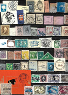 360 - 1860-1940  - WORLD-WIDE SMALL SELECTION OF ODDITIES, FORGERIES, FALSES, FALSCHEN, FAKES FAUX - Collections (sans Albums)