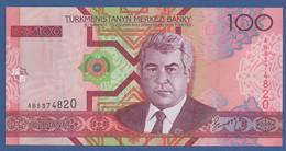 TURKMENISTAN - P.18 – 100 MANAT 2005   UNC  Prefix AB - Turkmenistan