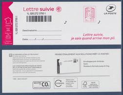 Timbre 1515A & étiquette Lettre Suivie France 20g Marianne Et La Jeunesse Neuf, Ciappa Kawena, Nouveau Tirage & Couleur - 2013-... Marianne Di Ciappa-Kawena