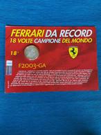 Medaglia F1 Ferrari F200 -GA In Blister Numero 18 - Altri
