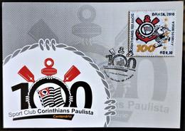 Brazil Maximo Postal Corinthians Soccer Football Postcard 2010 In Fabric - Unclassified