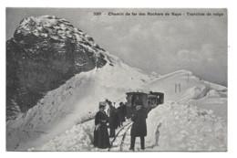 Chemin De Fer Des Rochers De Naye - Tranchée De Neige - Train - VD Vaud