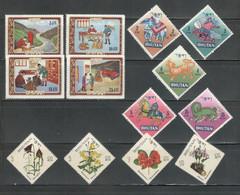 BHUTAN Stamps Small MNH MH Lot 3 Sets - Bhutan