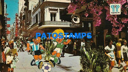 156217 ARGENTINA BUENOS AIRES STREET CALLE FLORIDA WORLD CUP 78 SOCCER FUTBOL ONLY FOR CUSTOMERS POSTAL POSTCARD - Argentina