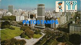 156218 ARGENTINA BUENOS AIRES STREET BARRIO DE RETIRO WORLD CUP 78 SOCCER FUTBOL ONLY FOR CUSTOMERS POSTAL POSTCARD - Argentina