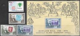 Norfolk Island    1979   Sc#246-8a, 250  MNH   2016 Scott Value $2.75 - Isla Norfolk