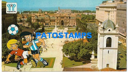 156226 ARGENTINA BUENOS AIRES PLAZA DE MAYO WORLD CUP 78 SOCCER FUTBOL ONLY FOR CUSTOMERS POSTAL POSTCARD - Argentina