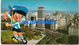 156227 ARGENTINA BUENOS AIRES BARRIO DE RETIRO WORLD CUP 78 SOCCER FUTBOL ONLY FOR CUSTOMERS POSTAL POSTCARD - Argentina