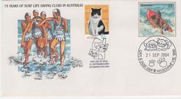 Australia 2004 Cats And Dogs Souvenir Cover - Marcofilia