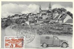 Algérie - Carte 1er Jour 19 3 58 Journée Du Timbre - HUSSEIN DEY - Yvert 350 - Distribution Postale Motorisée - - Algeria (1962-...)