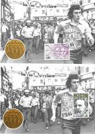 France - Yvert 2215 Et 2218 Sur 2 Cartes Postales - La Marche Des Facteurs - PARIS 10 X 82 - - Briefe U. Dokumente