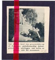 Orig. Knipsel Coupure Tijdschrift Magazine - Deurne - 11 November Herdenking - 1938 - Sin Clasificación