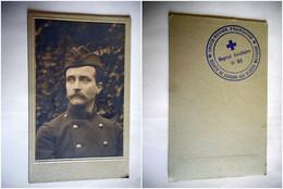 PHOTO CDV SOLDAT MILITAIRE CROIX ROUGE FRANCAISE HOPITAL MILITAIRE N° 88 - Guerra, Militari