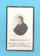 DOODSPRENTJE  MARIE DIERICKX WW LOUIS MOENS ECHT.JOZEF VAN WEYENBERGE (° LEBBEKE 1866  + 1927) (2 Scans) (DV 357) - Avvisi Di Necrologio
