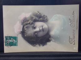 922 THEME  . BONNE ANNEE . FILLETTE . OBLITEREE 1910 - Nouvel An