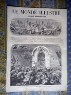 LE MONDE ILLUSTRE 09/11/1872 LE BOURGET PAUL ROLIER AERONAUTE COCHIN CHINE ANNAM CAFE CONCERT AVIGNON  ARTS FERRIER DELU - 1850 - 1899