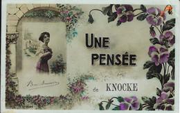 Carte Fantaisie (Jeune Fille Avec Pensées) - UNE PENSEE De KNOCKE - Knokke