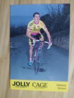 Cyclisme - Carte Publicitaire JOLLY CAGE 1994 : SIMONI - Ciclismo