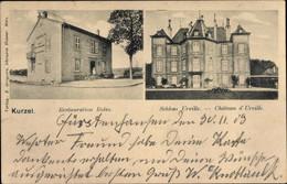 CPA Courcelles Chaussy Kurzel Lothringen Moselle, Schloss Urville, Restaurant Rolin - Andere Gemeenten