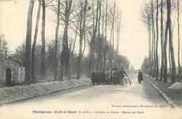 CPA 91 Essonne Montgeron Forêt De Sénart Endroit Du Crime Route Vers Paris - Bande à Bonnot - Montgeron