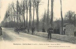 CPA 91 Essonne Montgeron Forêt De Sénart Endroit Du Crime Route Vers Melun - Bande à Bonnot - Montgeron