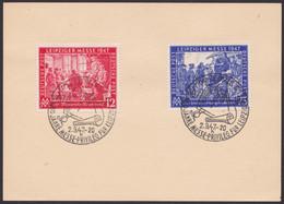 "Mi-Nr. 965/6, ""Leipziger Messe"", Blankokarte Mit Pass. ESst - American,British And Russian Zone"