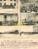 Clisson, Double Carte Du Pensionnat De L'Immaculée Conception, Affranchie 1917 - Clisson
