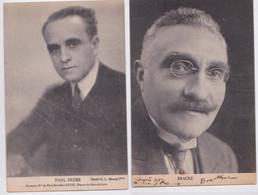 Congrès SFIO De Paris Janvier 1930 Délégation Du Nord Paul Faure Bracke Dédicace Signature Politique Socialisme Lot 2 Cp - Events