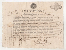 Vieux Papier 1737 Dimension 24,5 Cm X 19 Cm - Non Classificati