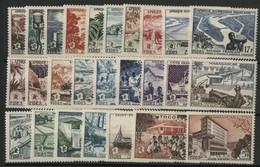 1956 F. I. D. E. S. Série Complète De 26 Valeurs Neuves * (MH). Cote 44,70 € (3 Exemplaires Avec Adhérences De Couleur). - 1956 F.I.D.E.S.