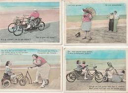 Lot 4 Cartes Illustrateur Hubel - Humour - Imp. Rotary Mariakerke-lez-Gand - Other Illustrators