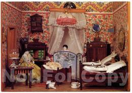 Carte Postale Moderne Maison De Poupée Ancienne Porcelaine Chat Jouet Musée - 1900-1949
