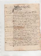 Acte 1685 De 6 Pages - Manoscritti