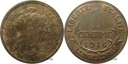 France - IIIe République - 1 Centime Daniel-Dupuis 1916 - SUP/AU58 - Fra2881 - A. 1 Centime