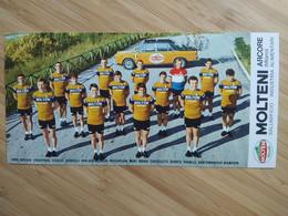 Cyclisme - Carte Publicitaire MOLTENI ARCORE 1970 : Le Groupe - Cycling