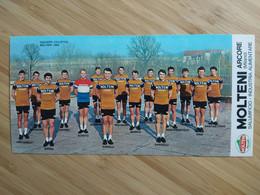 Cyclisme - Carte Publicitaire MOLTENI ARCORE 1969 : Le Groupe - Cycling