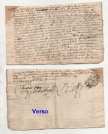 Acte 1689 Quart De Papier - Manoscritti