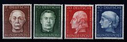 A7016) Bund Helfer Der Menschheit 1954 Mi.200-203 ** Postfrisch MNH - Nuovi