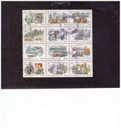 BF.874   /   RUSSIA   - BLOCCO DI 12   USATO, SET COMPLETO, -   CAT. UNIFICATO Nr. 6584/6595 - MICHEL  863/874 - Usados